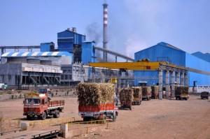 Usina de açúcar em Maharashtra