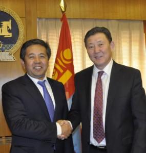Políticos da Mongólia e do Quirguistão