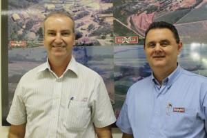 Wilson José Meneguetti, diretor executivo da unidade Terra Rica, e João José Marafão, gerente industrial