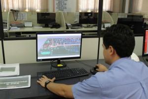 Interface 3D mostra equipamentos e fluxos com baixa eficiência e faz recomendações de melhorias em tempo real