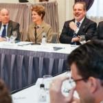 Presidenta Dilma Rousseff durante encontro com empresários brasileiros