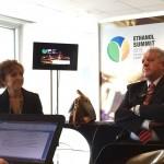 Elizabeth Farina, presidente da Unica, e Antonio Padua Rodrigues, diretor da instituição, pouco antes da abertura do Ethanol Summit