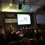 Albrubek no World Bio Markets, na manhã desta terça-feira, em SP: investimento em projetos 2G