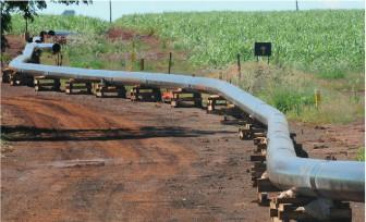 Trecho do etanolduto em Ribeirão Preto (SP)