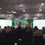 Nastari, em conferência na Fenasucro na manhã de terça-feira (23/08): previsões